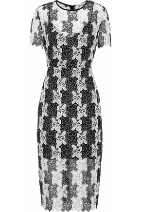 DIANE VON FURSTENBERG Two-tone guipure lace dress