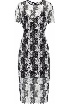 DIANE VON FURSTENBERG Two-tone guipure lace dress