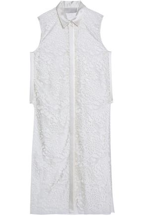 MICHELLE MASON Silk satin-trimmed corded lace tunic