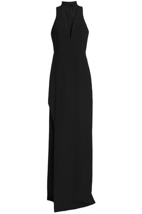 MICHELLE MASON Cutout lace-trimmed gown