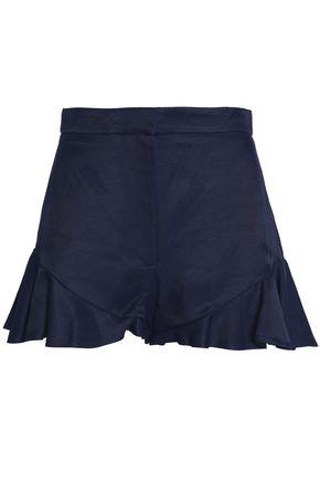 SANDRO Paris Ruffled twill shorts
