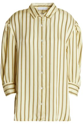 SANDRO Paris Striped satin-twill shirt