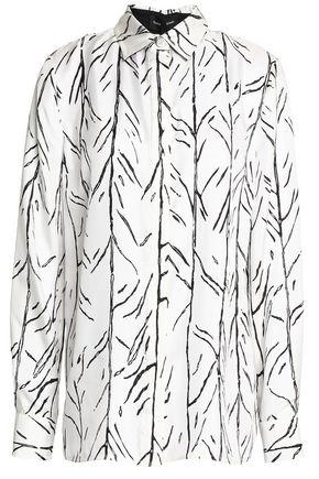 PROENZA SCHOULER Printed silk-faille shirt