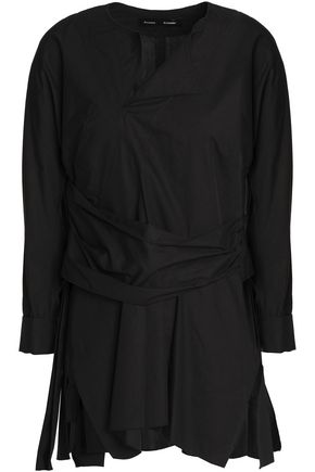 PROENZA SCHOULER Belted pleated cotton-poplin top