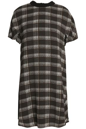 PROENZA SCHOULER Checked crepe mini dress