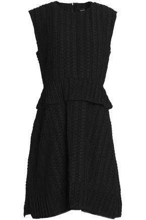 PROENZA SCHOULER Fil coupé cotton and silk-blend peplum mini dress