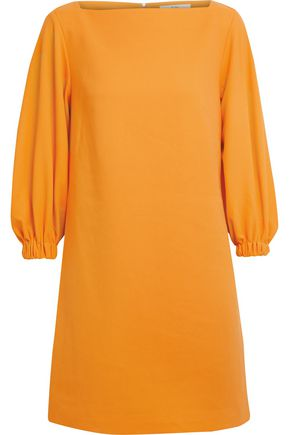 TIBI Gathered stretch-cady mini dress