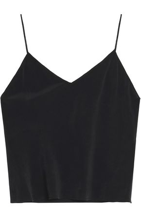 ALICE + OLIVIA Lauren washed-silk camisole