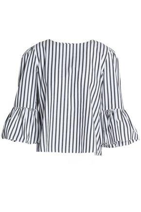 ALICE + OLIVIA Bernice striped cotton-poplin blouse