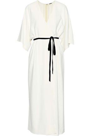 ADAM LIPPES Wrap-effect cady maxi dress