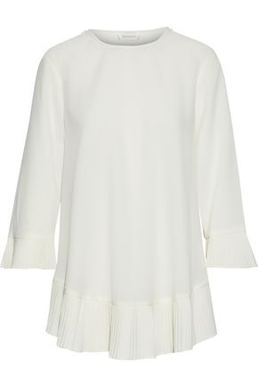 ZIMMERMANN Pleated crepe de chine blouse
