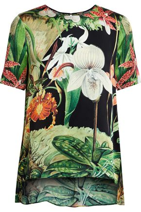 ADAM LIPPES Printed silk top