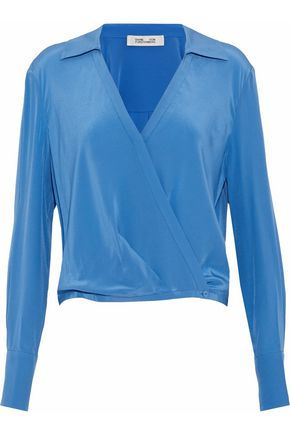 DIANE VON FURSTENBERG Washed-silk wrap top
