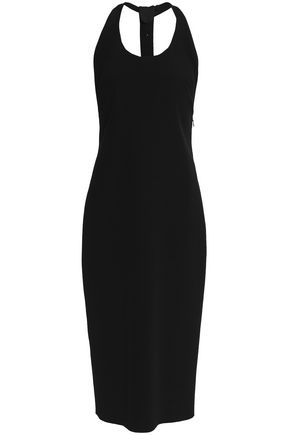 TOM FORD Ring-detailed silk-crepe midi dress