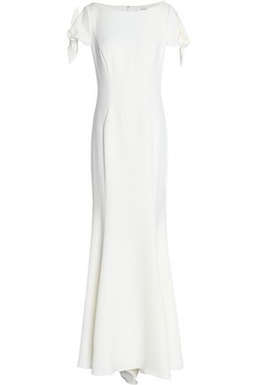 BADGLEY MISCHKA Knotted crepe gown