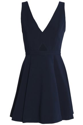 ALICE + OLIVIA Nina cutout crepe mini dress
