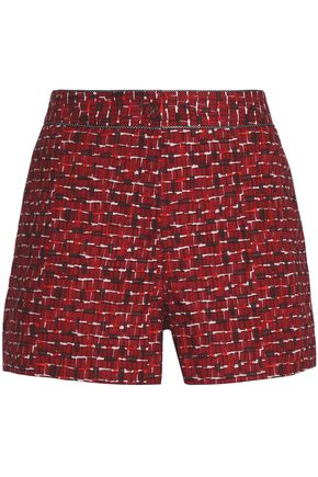 BOTTEGA VENETA Printed cotton-blend poplin shorts