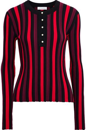 ALTUZARRA Alessio striped ribbed-knit top