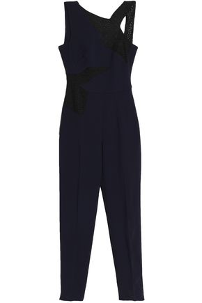 ANTONIO BERARDI Perforated crepe jumpsuit