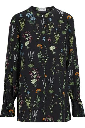 ALTUZARRA Floral-print silk top