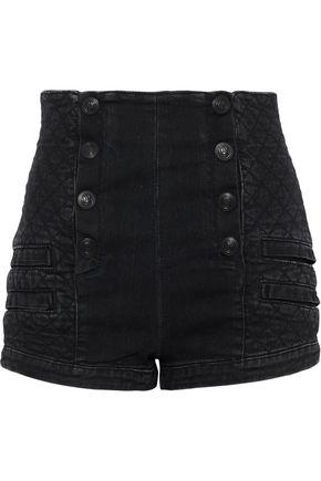 PIERRE BALMAIN Quilted denim shorts