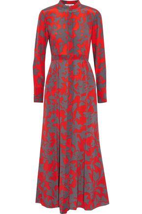 DIANE VON FURSTENBERG Printed silk crepe de chine midi dress