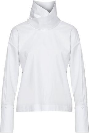 ADAM LIPPES Cotton-poplin turtleneck top