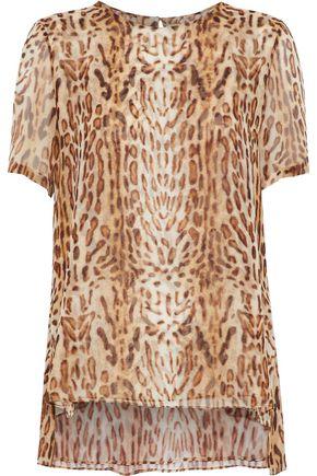 ADAM LIPPES Leopard-print silk-crepe de chine top