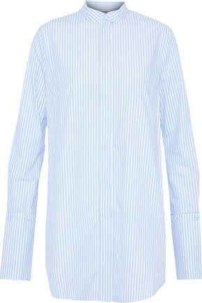 ADAM LIPPES Striped cotton-poplin shirt