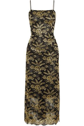 Metallic Embroidered Tulle Midi Dress by Adam Lippes