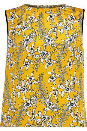 OSCAR DE LA RENTA Floral-print silk top