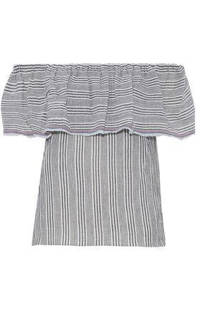 BAILEY 44 Fetir off-the-shoulder striped cotton-gauze top