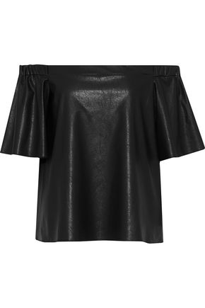 BAILEY 44 Cindy off-the-shoulder faux leather top