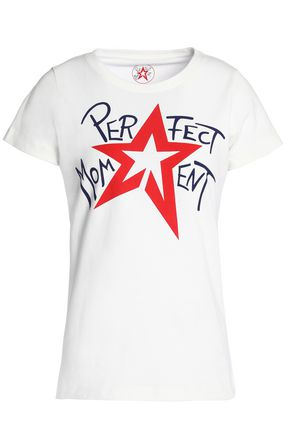 PERFECT MOMENT Printed cotton-jersey T-shirt
