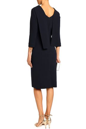OSCAR DE LA RENTA Wool-blend crepe dress
