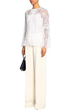 OSCAR DE LA RENTA Cotton-blend guipure lace top