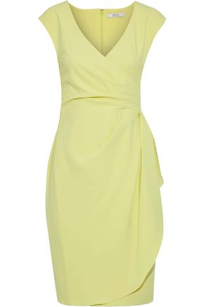 BADGLEY MISCHKA Wrap-effect crepe dress