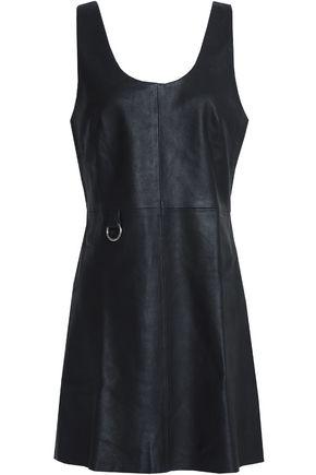 VEDA Ring-embellished leather mini dress