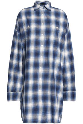 R13 Axl oversized checked cotton-flannel shirt