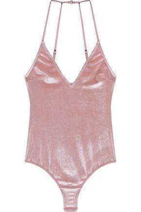 LE FLEUR DU MAL Velvet bodysuit