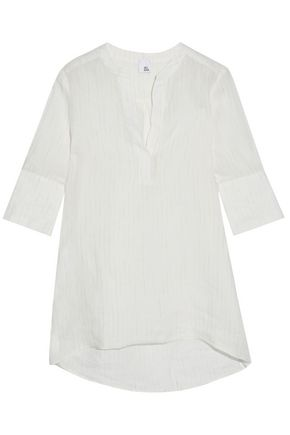 IRIS & INK Leonard striped linen-gauze top