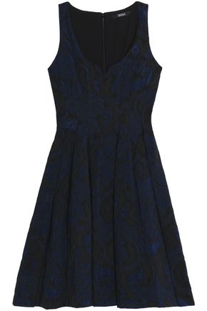 BADGLEY MISCHKA Jacquard-cloqué dress