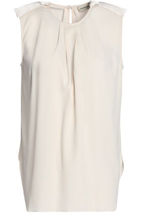 BY MALENE BIRGER Pleated crepe top