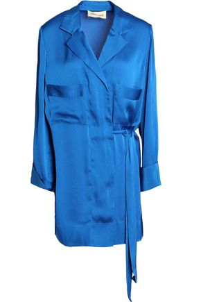BY MALENE BIRGER Satin wrap mini dress