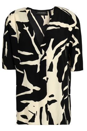 BY MALENE BIRGER Printed crepe blouse