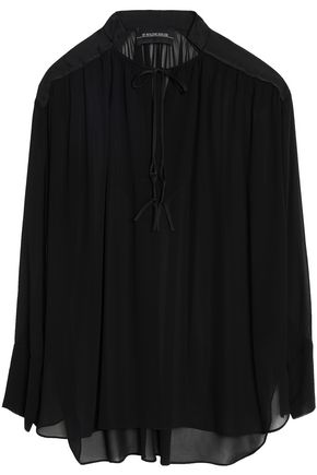 BY MALENE BIRGER Gathered voile blouse