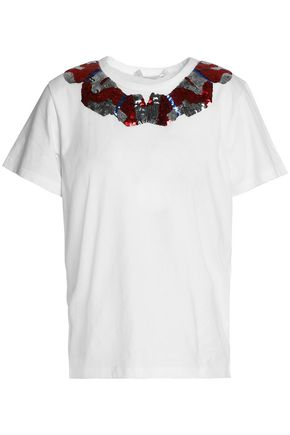 MARC JACOBS Sequined cotton-jersey T-shirt