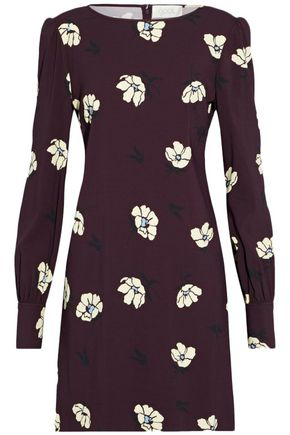 GOAT Floral-print crepe mini dress