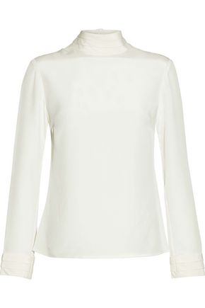 Silk Satin Turtleneck Blouse by Goat