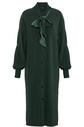 BY MALENE BIRGER Pussy-bow crepe dress